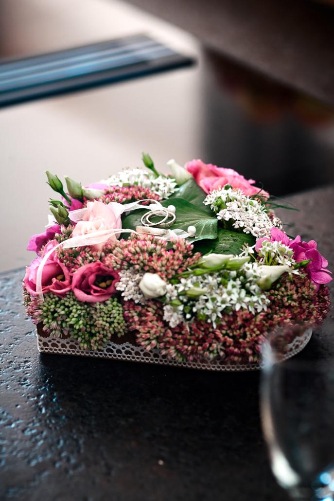 Blumengesteck für Hochzeit