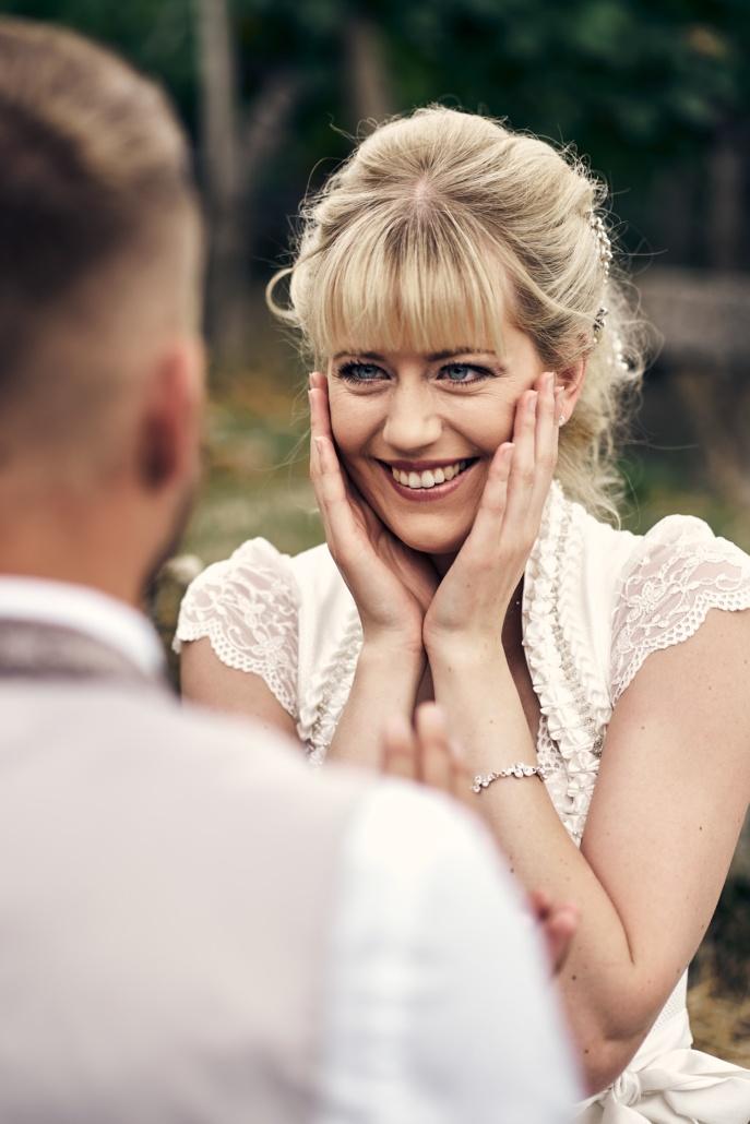 Hochzeitsfotos einer Braut in Tracht