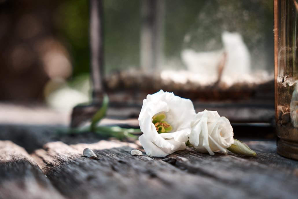 Hochzeitsfotos von Hochzeitsblumen